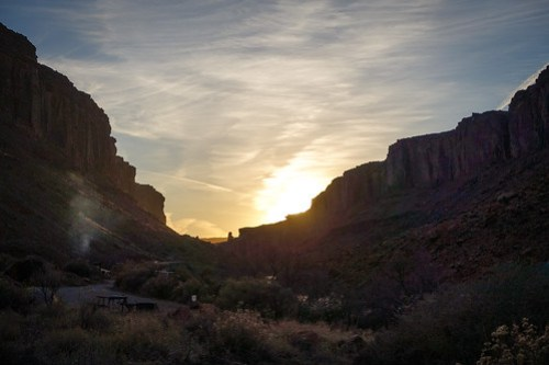 Colorado River canyon sunset
