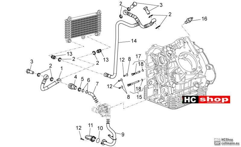 Foto Nr. 1: Moto Guzzi Griso 1200 8V Schmierung Ersatzteil