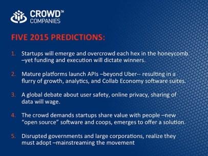 FIVE 2015 PREDICTIONS: