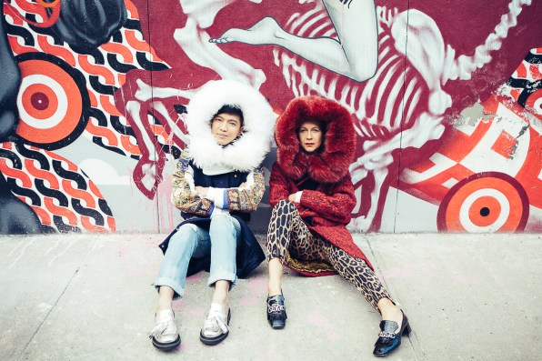 Bryanboy and Natalie Joos in Williamsburg