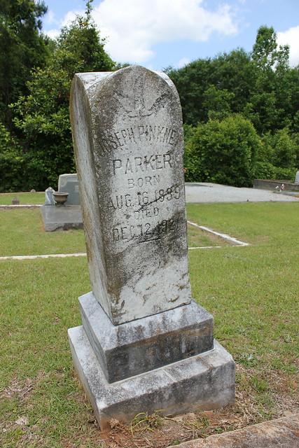 Joseph Pinkney Parker Monument, Oakwood Cemetery, Troy AL
