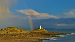Rainbow at Mumbles Head