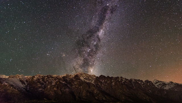 Stars over a Mountain