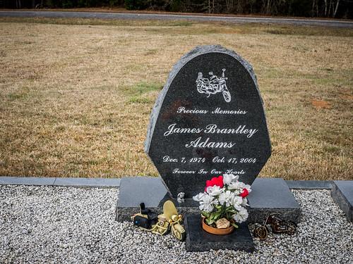 Adams Motorcycle Grave