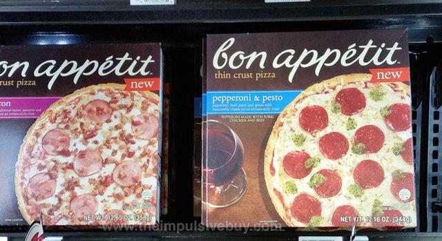 Bon Appetit Pepperoni & Pesto and Trio Bacon Thin Crust Pizza