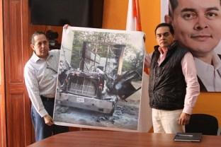Incendian un tráiler del candidato a alcalde de Coxcatlán de Movimiento Ciudadano