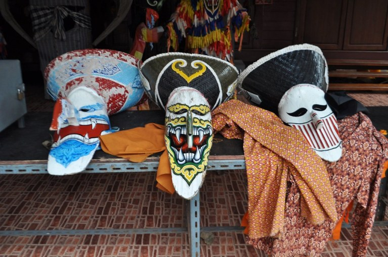 Ghost masks at the Phi Ta Khon Museum in Loei.