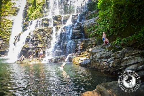 Cliff Jumping at Nauyaca Waterfalls Costa Rica