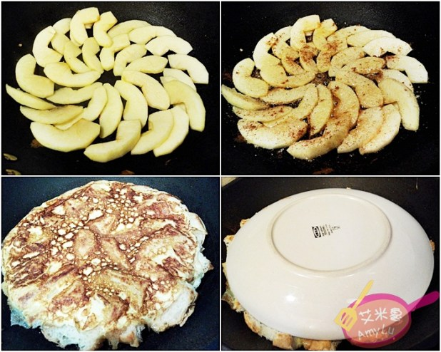 【DIY翻轉蘋果派吐司版】從備料到完成20分鐘內搞定! 有點兒像脆皮布丁蛋糕的FU~