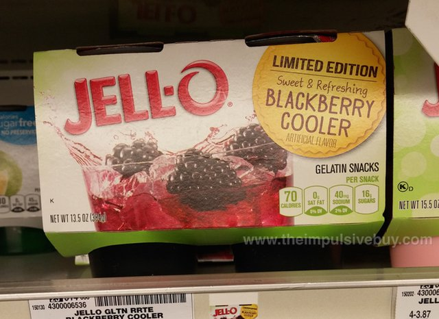 Jello Limited Edition Blackberry Cooler Gelatin Snacks