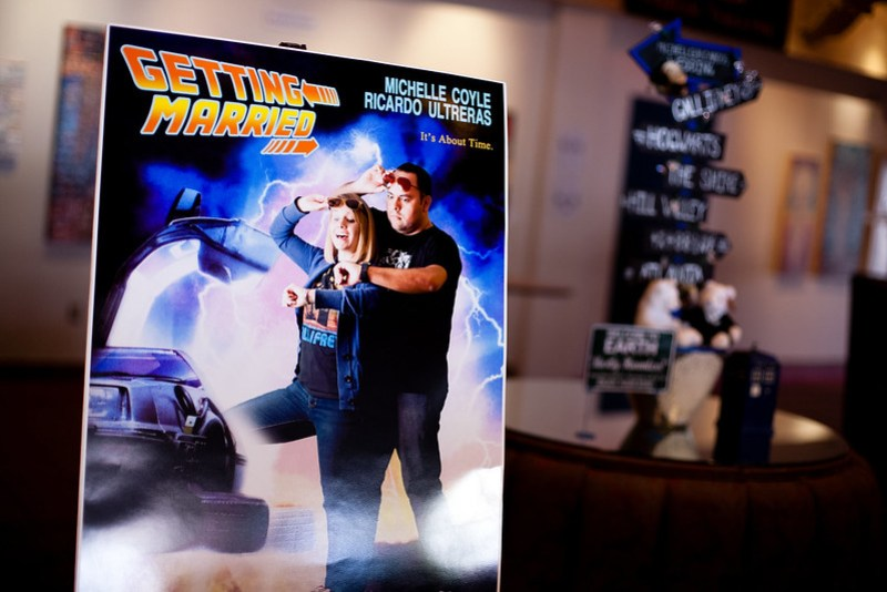 Movie geek wedding from @offbeatbride