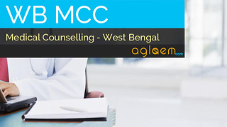 WBMCC Counselling 2015 and Seat Allotment - WBPGMAT / WBPGDAT