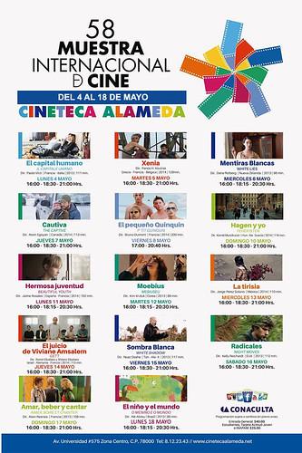 58 muestra internacional de cine de 4 al 18 de mayo, en la cineteca alameda