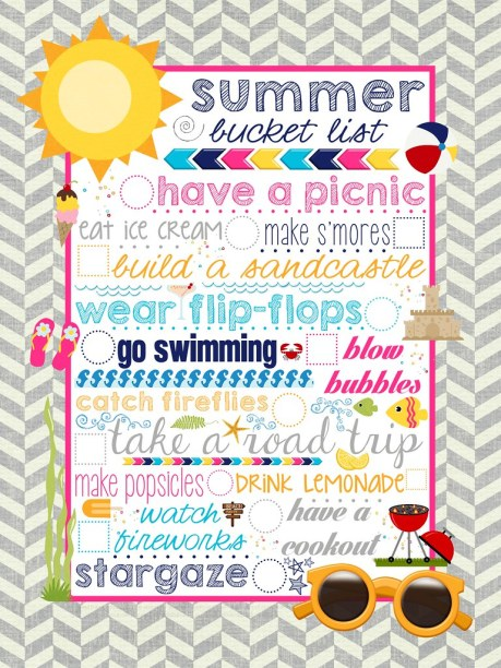 {FREE} Summer Bucket List Printable