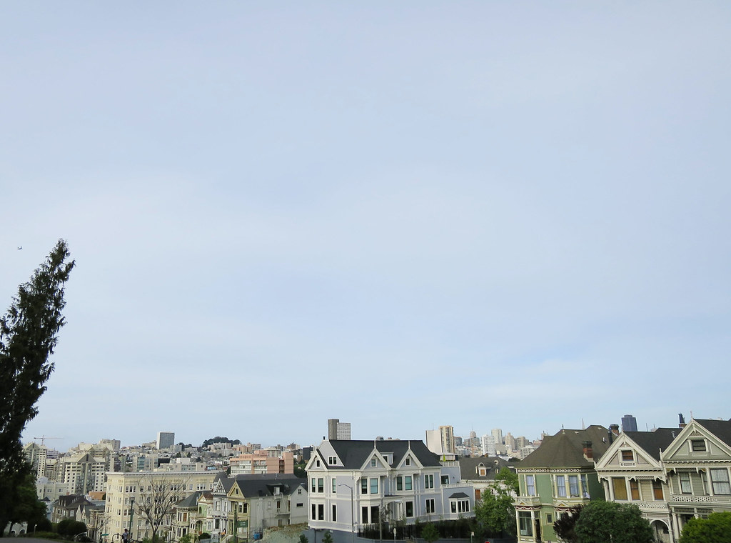Alamo Square city view