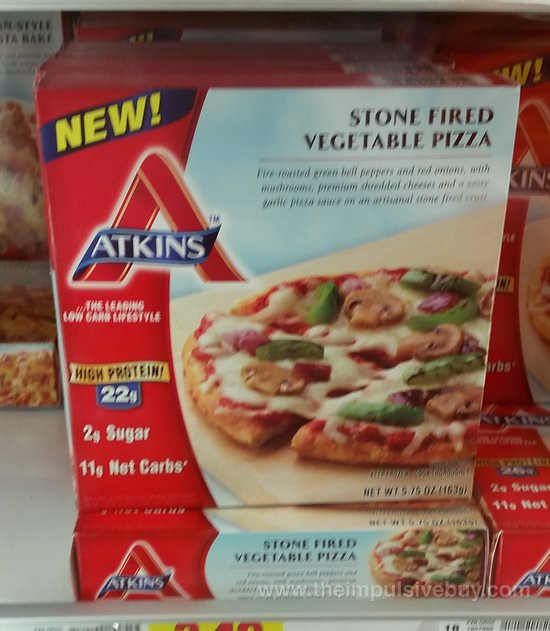 Atkins Stone Fired Vegetable Pizza