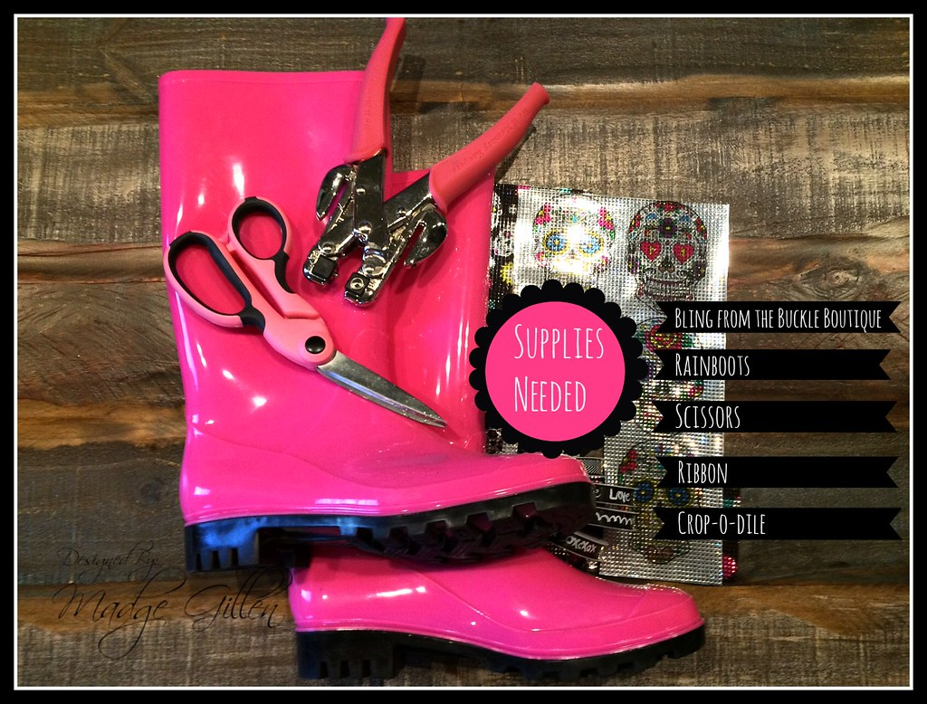 Supplies Needed for Sugar Skull Rainboots