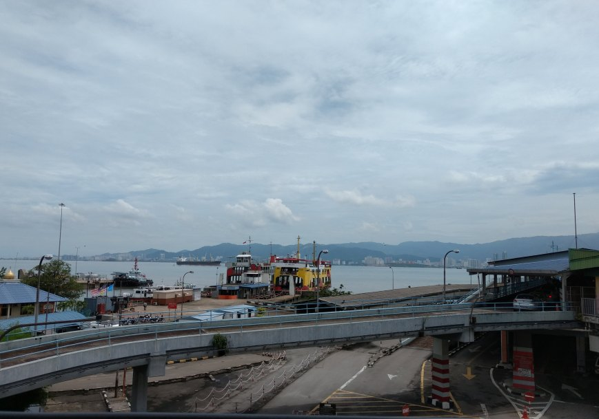 The approaches to the ferry from the station and outside, Butterworth - Penang