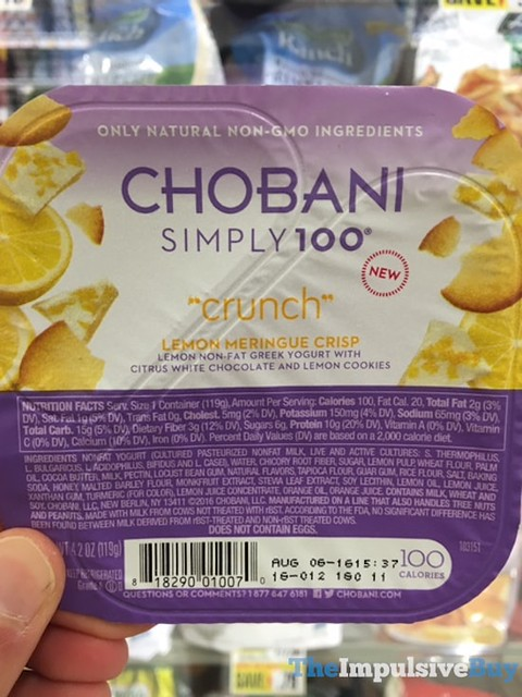 Chobani Simply 100 Crunch Lemon Meringue Crisp