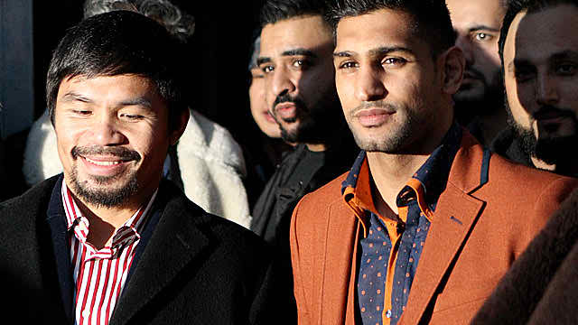 Amir Khan has seen Pacquiao up close, likes Mayweather