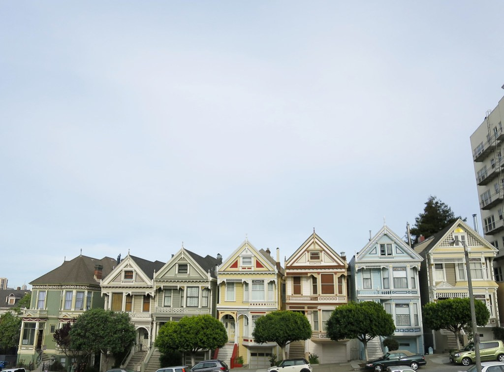 Painted Ladies from Alamo Square San Francisco