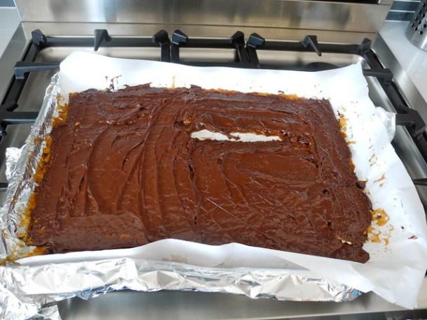 Chocolate Matzo Toffee
