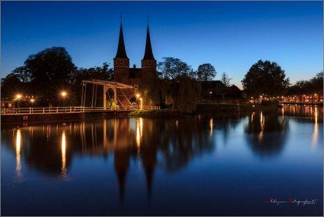 Delfts blauw, Oostpoort in het blauwe uur