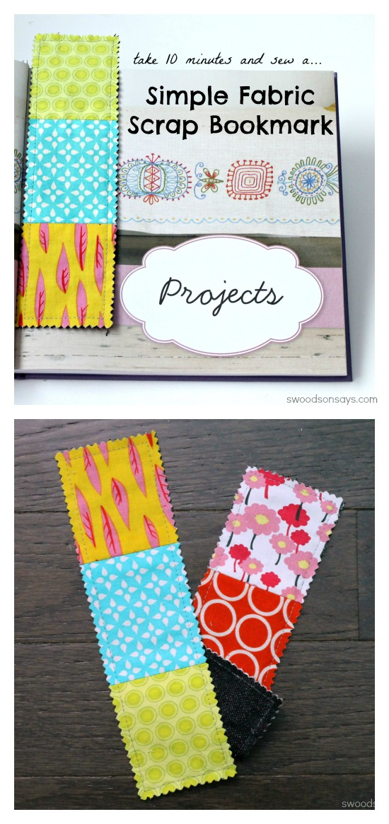 Fabric Scrap Busting Bookmark Tutorial