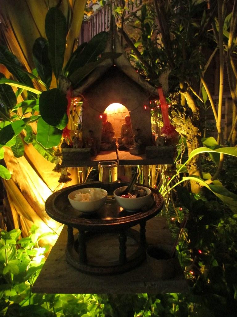 Spirit House in Chiang Khan, Thailand, March 24, 2015