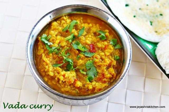 Vada curry- recipe
