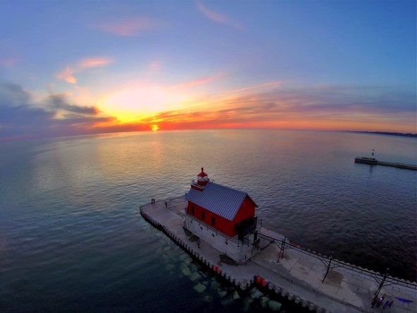 Spring Sunset in Grand Haven (04 14 2015)