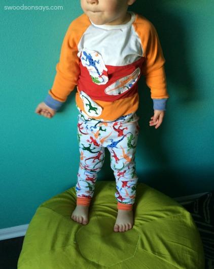 Upcycled pajamas