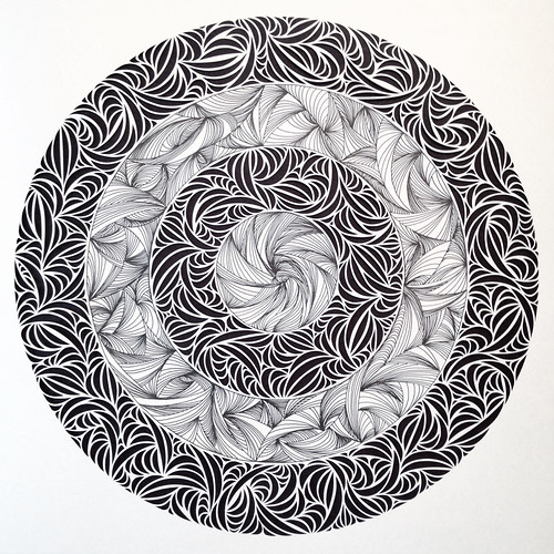 paper cut and drawing on paper