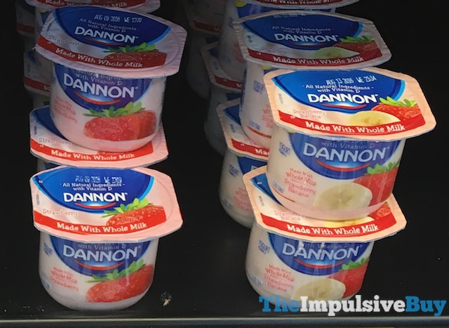 Dannon made with Whole Milk Yogurt (Strawberry and Strawberry Banana)