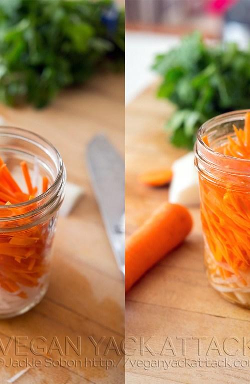Pickled Daikon Radish and Carrots