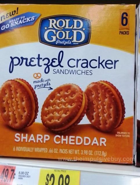 Rold Gold Sharp Cheddar Pretzel Cracker Sandwiches