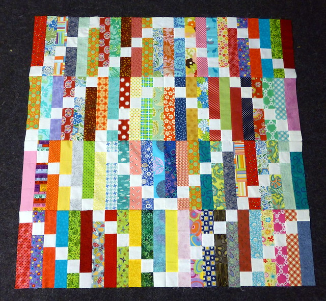Bee Blessed Strip Steps Quilt top
