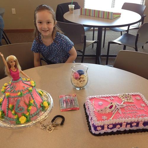 Celebrating birthdays! Hannie will be 6 next week - time flies.