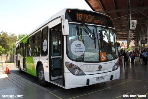 Transantiago - Inversiones Alsacia - Marcopolo Gran Viale / Scania (Biodiésel) (DBFZ92)