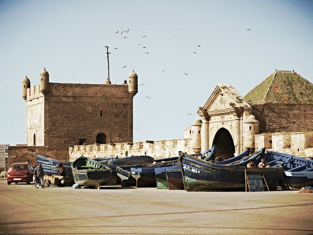 fishing boats, Essaouira, borj mogador, best places to visit in Morocco