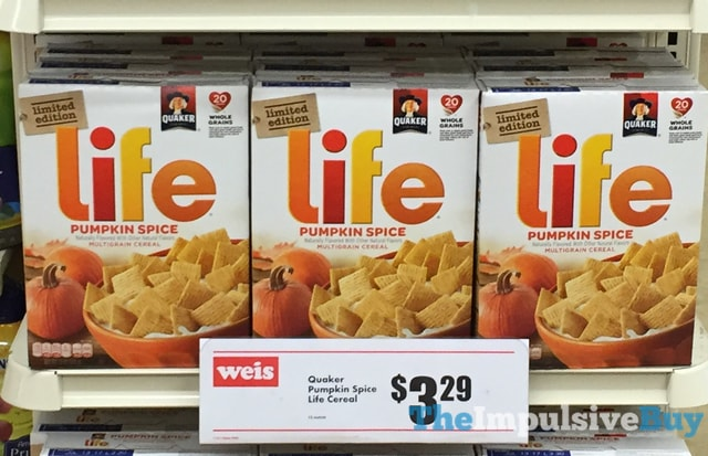 Limited Edition Quaker Pumpkin Spice Life Cereal