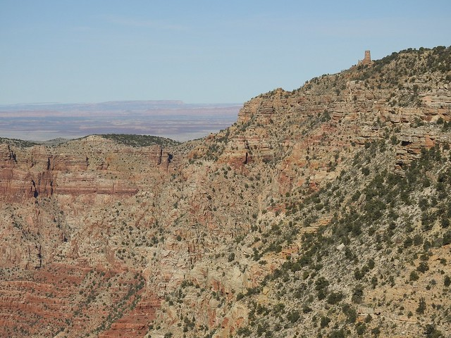 Вид на Часовую башню в Большом каньоне
