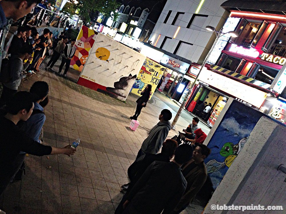 4 Oct 2014: Hongdae (Hongik University Street)   Seoul, South Korea