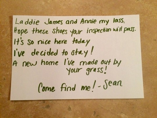 Sean's note