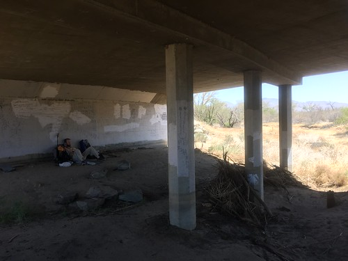 Under the highway at Scissors Crossing