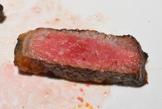Wagyu/Black Angus Beef Rib Steak, Rosewood, TX spanish-style bone-in rib eye, oak-wood fired