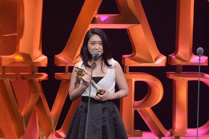 Japanese actress Ikewaki Chizuru on stage
