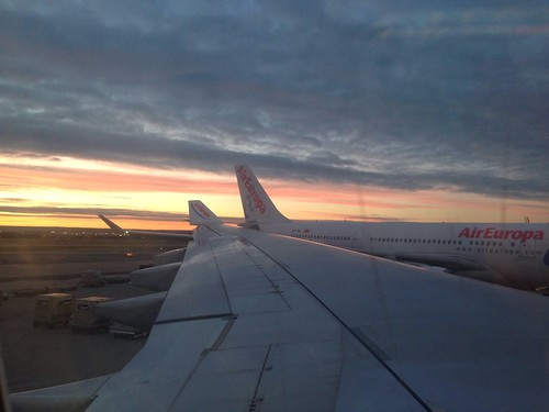 Air Europa Flight at Sunrise