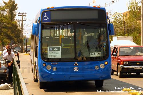 Transantiago (Archivo) - Las Araucarias - Metalpar Tronador / Agrale (BJFL76)