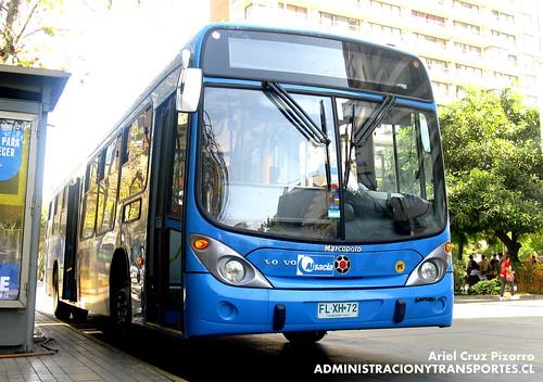 Transantiago - Inversiones Alsacia - Marcopolo Gran Viale / Volvo (FLXH72)